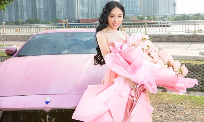 Hoa hậu Hạ My 'phát cuồng' với chàng rapper tông hồng Binz
