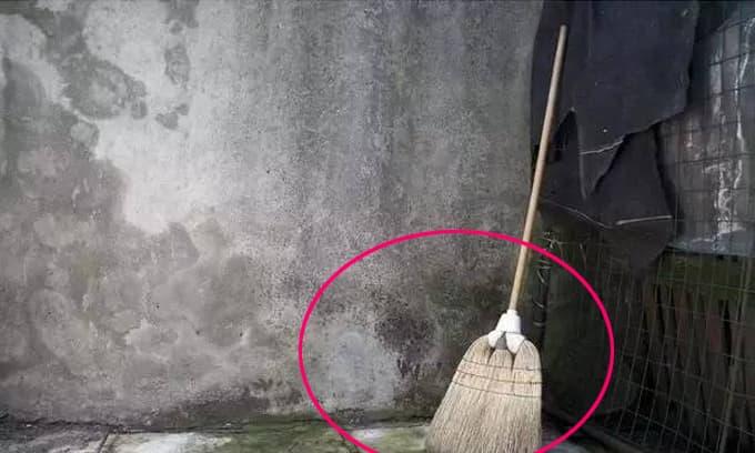 Chổi không được đặt ở đây, nếu không sẽ quét sạch của cải!