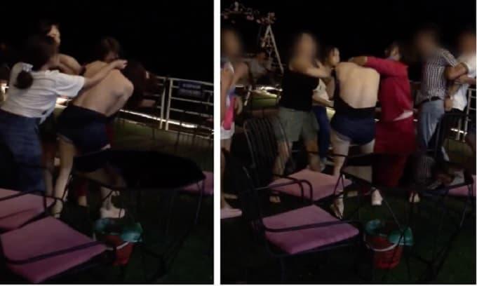 Triệu tập nhóm người trong clip đánh ghen, xé váy 'tiểu tam' ở quán cafe tại Hà Nội