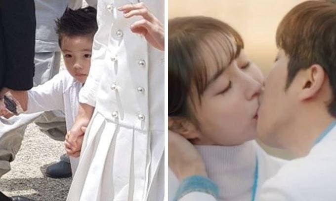 Con trai tình cũ của Song Hye Kyo mới 5 tuổi đã biết 'lo sốt vó' khi thấy mẹ ôm hôn trai lạ