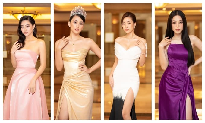 Hoa hậu Tiểu Vy đội vương miện 3 tỉ, đeo trang sức nửa tỉ đầy quyền lực đọ dáng cùng dàn Hậu đình đám