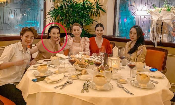 Hội ngộ mừng sinh nhật Phương Oanh, nhan sắc Bảo Thanh gây chú ý sau khi thông báo mang bầu