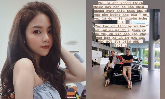 Bạn gái lên tiếng đính chính về việc được CEO Tống Đông Khuê mua xe 5 tỉ tặng sau khi bị anti-fan lăng mạ