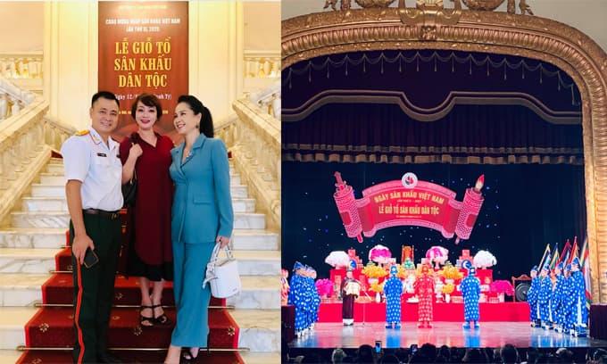 Nghệ sĩ Việt tề tựu làm lễ giỗ Tổ nghề sân khấu tại Nhà hát lớn Hà Nội