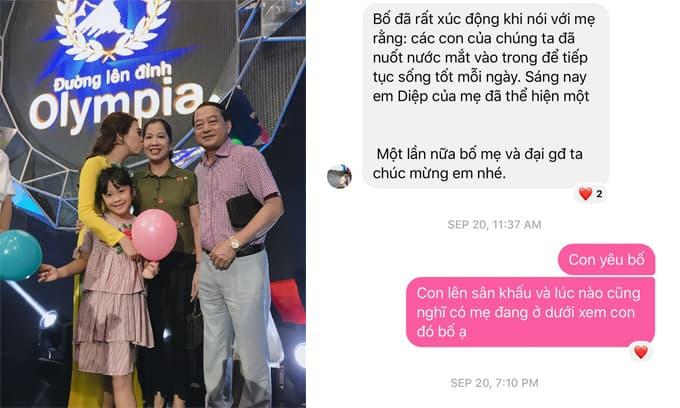 Xúc động trước lời nhắn của bố dành cho MC Diệp Chi sau khi mẹ qua đời