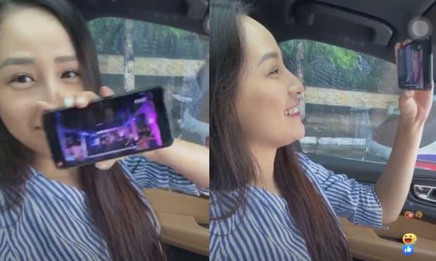 Mai Phương Thúy vừa nghêu ngao hát nhạc Noo Phước Thịnh, vừa cười tít mắt khen chàng đẹp trai