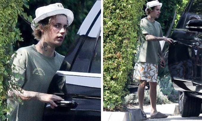 Thái độ 'khó ở' của Justin Bieber khi bị cánh săn ảnh chộp cảnh ăn mặc luộm thuộm
