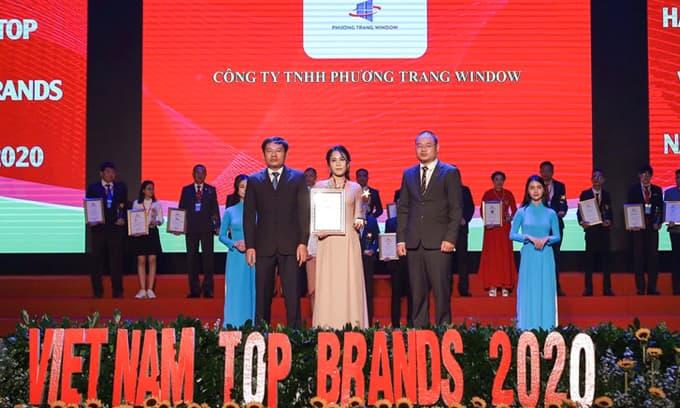 Công ty Phương Trang Window đạt danh hiệu Top 50 thương hiệu hàng đầu năm 2020
