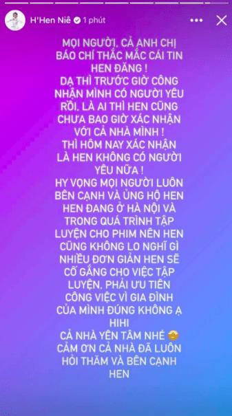 Hoa hậu HHen Niê chính thức xác nhận chia tay bạn trai