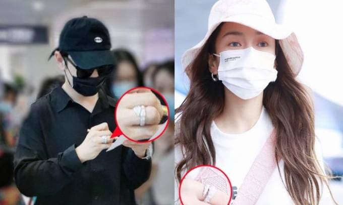Angelababy đeo nhẫn kim cương 'khủng' đáp trả tin đồn ly hôn Huỳnh Hiểu Minh