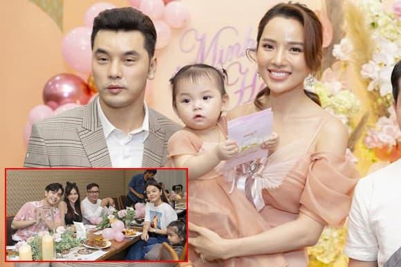 Ưng Hoàng Phúc hội ngộ Phạm Quỳnh Anh và Thu Thủy trong tiệc sinh nhật 1 tuổi của con gái