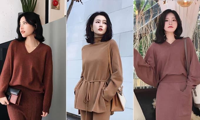 Đừng lo lắng việc mặc gì mùa thu, chỉ cần một chiếc 'áo dệt kim' là đủ để bạn có được sự thanh lịch và thời trang