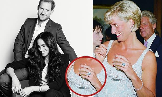 Trái với chị dâu, Meghan Markle bị chỉ trích 'cô không xứng' khi khoe trên tay đồng hồ và nhẫn kỷ vật của mẹ chồng Diana