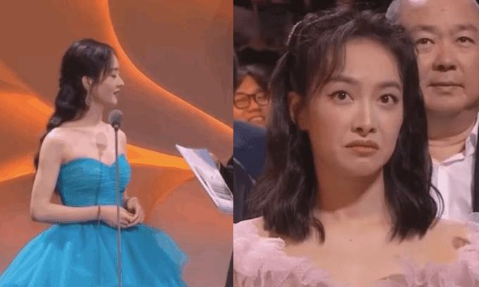 Triệu Lệ Dĩnh lên sân khấu Kim Ưng, Tống Thiến ở dưới bĩu môi làm bùng lên tranh cãi 'bằng mặt không bằng lòng'