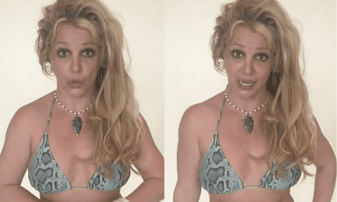 Britney Spears xuất hiện với mái tóc rối bù, mắt thâm quầng, đặc biệt thần thái khiến fan nghĩ cô cần gặp bác sĩ tâm lý