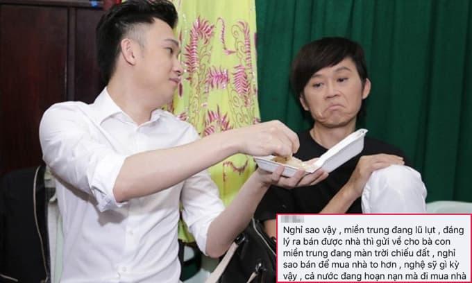 Em trai Hoài Linh bị anti-fan chỉ trích vì bán nhà không đem ủng hộ miền Trung mà lấy tiền mua căn hộ to hơn