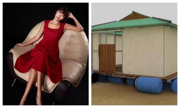 Siêu mẫu Hà Anh kêu gọi quyên góp làm nhà chống lũ cho người dân miền Trung