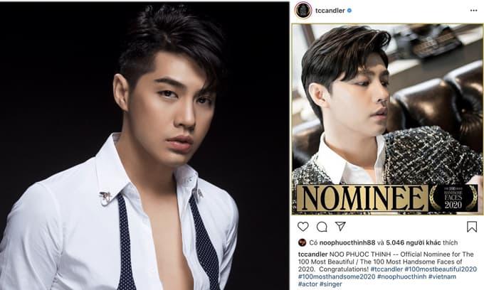 Ca sĩ Noo Phước Thịnh được đề cử 100 gương mặt đẹp nhất thế giới