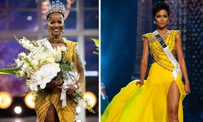 Tân Hoa hậu Nam Phi 2020: Trọc đầu nhưng vẫn đầy cuốn hút, mặc váy khá giống với Hoa hậu H'Hen Niê