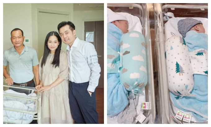Bà xã Dương Khắc Linh xuất hiện tươi tắn hậu sinh nở, hé lộ dung mạo cặp song sinh