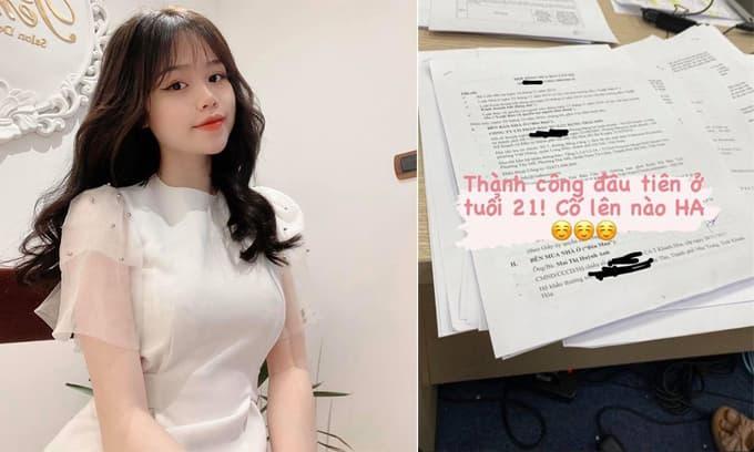 Mua nhà ở tuổi 21, bạn gái Quang Hải khiến dân mạng thắc mắc: 'Làm nghề gì mà giàu thế?'