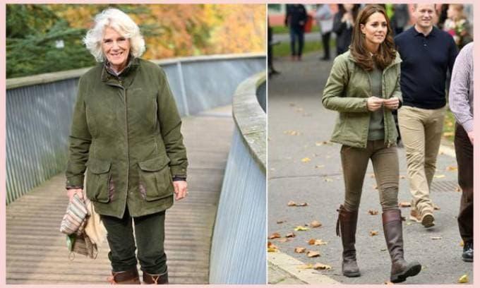 Không ưa Công nương Kate nhưng bà Camilla vẫn bắt chước cách ăn mặc của con dâu từ đầu đến chân