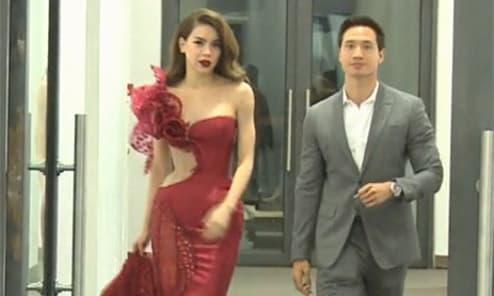 Clip Hà Hồ và Kim Lý sánh bước bất ngờ được chia sẻ lại nhưng nam diễn viên gây tranh cãi vì hành động này