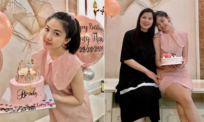 Tiểu tam 'Hoa hồng trên ngực trái' Lương Thanh đón sinh nhật tuổi 25, mẹ ruột chiếm spotlight vì quá trẻ trung