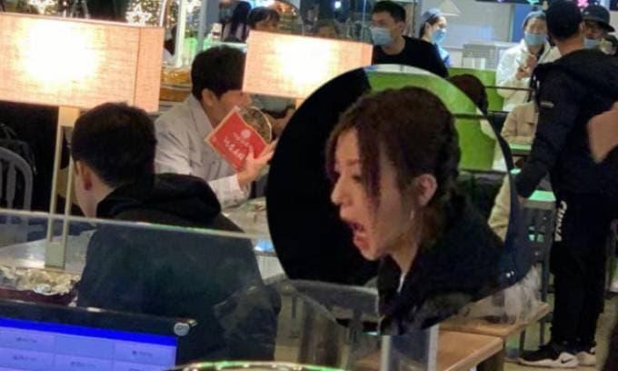 'Tiểu Yến Tử' Triệu Vy bị chộp khoảnh khắc há mồm kém duyên khi ăn uống