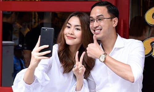Hà Tăng thích thú khoe ông xã cũng có fangirl, nhưng phản ứng của Louis Nguyễn mới gây chú ý