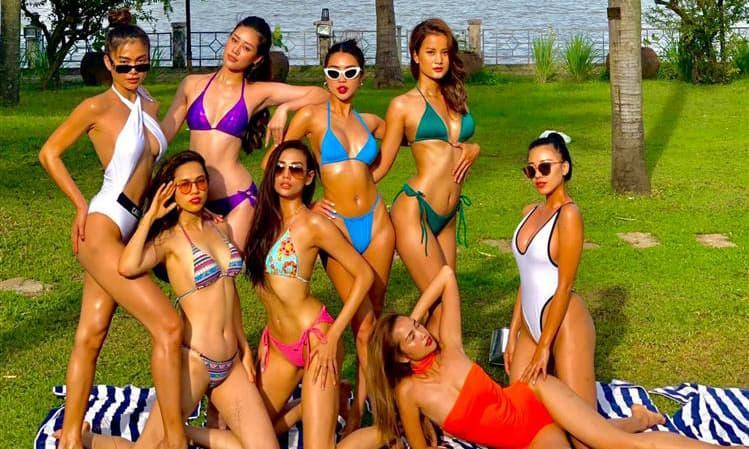 Bức ảnh nóng nhất: 8 mỹ nhân cuộc thi Hoa hậu đọ dáng với bikini mỏng tang