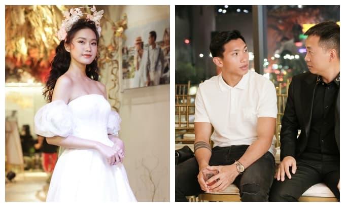 Đoàn Văn Hậu đến ủng hộ Doãn Hải My diễn thời trang sau chung kết Hoa hậu Việt Nam