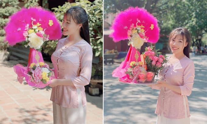 Nữ giảng viên Âu Hà My mặc giản dị đi lễ chùa ngày rằm, dân mạng rầm rầm gửi lời khen