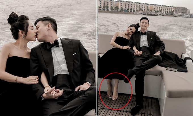 Đăng ảnh hẹn hò cùng Huỳnh Anh, bạn gái mới bị soi chỉnh ảnh photoshop khiến một chân đen, một chân trắng