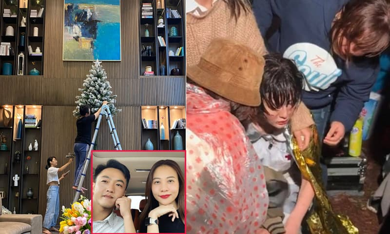Sao Việt 1/12: Cường Đô la đích thân trang trí biệt thự đón Giáng sinh; Fan xót xa khi xem ảnh Hiền Hồ co ro dưới mưa lạnh