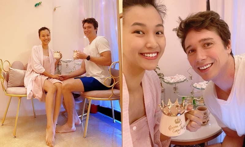 MC Hoàng Oanh cùng chồng Tây 'trốn con' đi chơi và làm đẹp nhân dịp kỉ niệm 1 năm ngày cưới