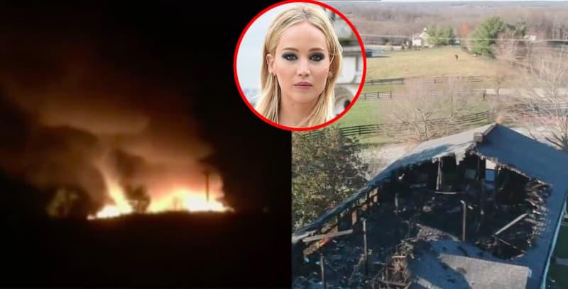 Trang trại của gia đình diễn viên Jennifer Lawrence bị thiêu rụi