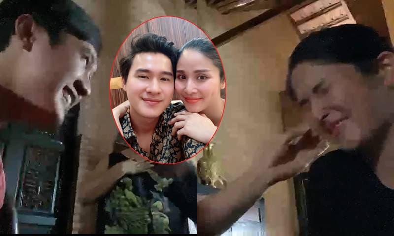 Thảo Trang cùng chồng kém tuổi Trương Quang Pháp đùa giỡn cực lầy ngay phim trường