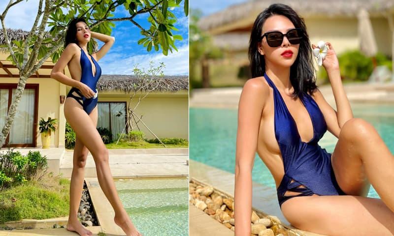 Đi du lịch cùng phụ huynh, siêu mẫu Minh Triệu chẳng ngại diện áo tắm nhỏ xíu khoe dáng triệt để