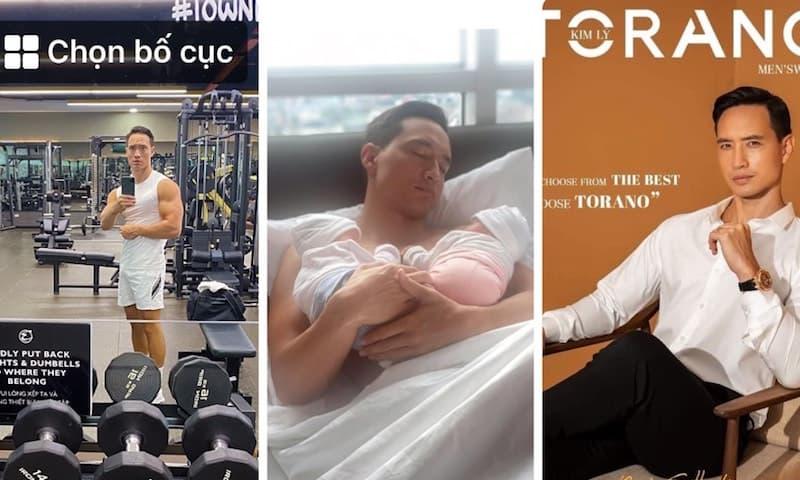 Trở thành ông bố 'bỉm sữa', Kim Lý vẫn khiến chị em ngẩn ngơ vì khoe thân hình lực lưỡng