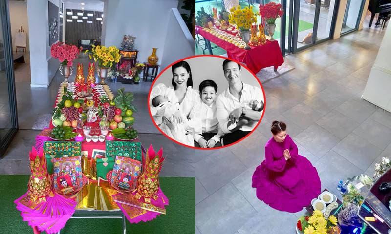 Tổ chức lễ đầy tháng của hai cháu, mẹ Hà Hồ khoe luôn biệt thự mới toanh của con gái