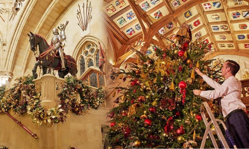 Hé lộ không gian trang hoàng lộng lẫy của tiệc Giáng sinh Hoàng gia Anh