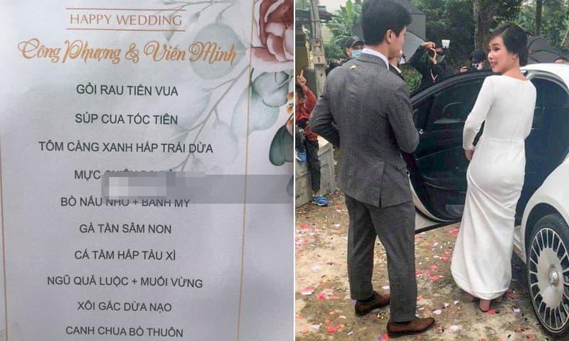 Thực đơn đám cưới Công Phượng ở quê: 11 món nhưng không có gà luộc hay đặc sản xứ Nghệ