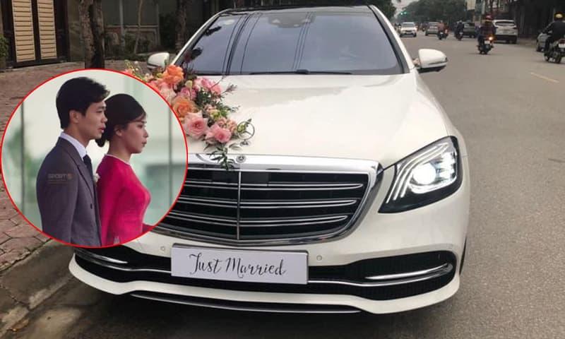 Công Phượng rước dâu bằng 'xế xịn' siêu sang Mercedes Maybach trị giá hơn 7 tỷ