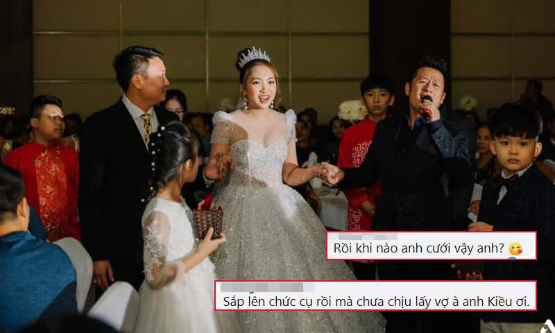 Bằng Kiều hát mừng đám cưới cháu, fan rầm rầm vào hỏi: 'Khi nào anh cưới vậy?'