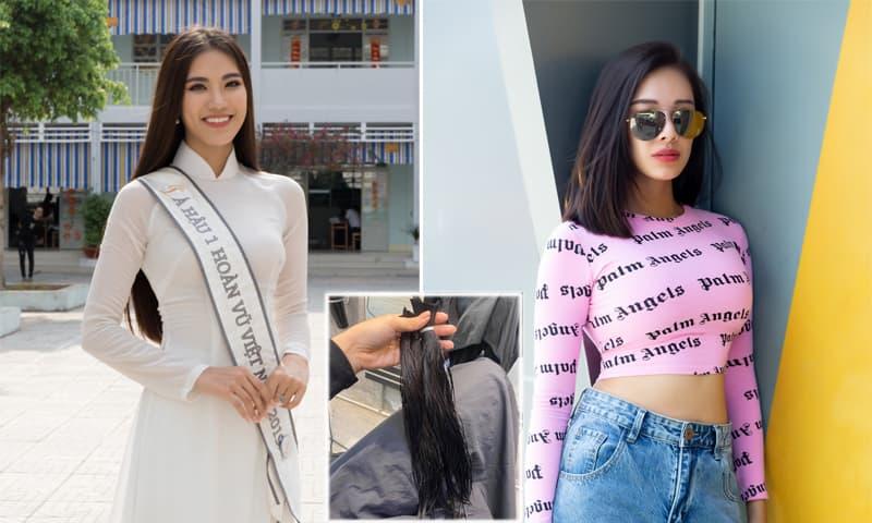 Sau 25 năm để tóc dài, Á hậu Kim Duyên được khen ngợi trẻ trung hơn nhờ cắt ngắn