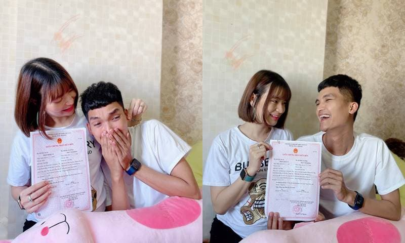 Cảm xúc hài hước của Mạc Văn Khoa khi cùng bà xã đi làm thủ tục đăng kí giấy kết hôn trước khi đón con gái đầu lòng