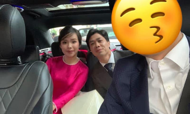 Hé lộ nhan sắc thật của cô dâu Viên Minh trên xe hoa về nhà Công Phượng ở Nghệ An