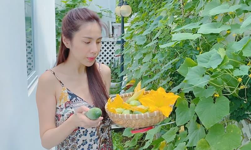 Hậu từ thiện trăm tỷ, Thủy Tiên tuyên bố bán dưa leo kiếm tiền nuôi chồng