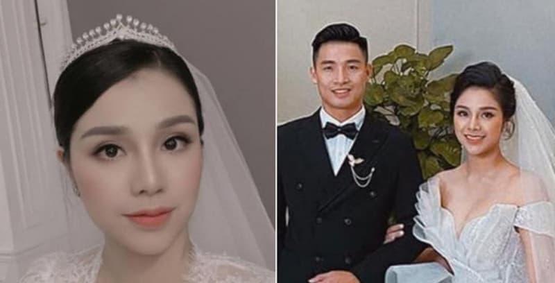 Ảnh cưới tự đăng và ảnh được tag của vợ Bùi Tiến Dũng liệu có khác nhau quá nhiều?